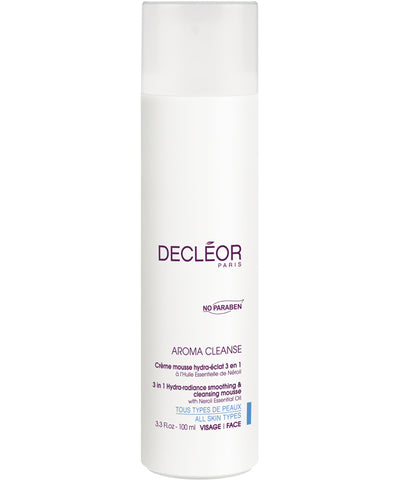 Decléor Aroma Cleanse 3 in 1 Hydra-radiance smoothing & cleansing mousse