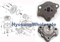 16400HG5162 16400HG5101 16510H05240 16400HG5103 Hyosung Genuine Oil pump Assembly GT250 GT250R GV250