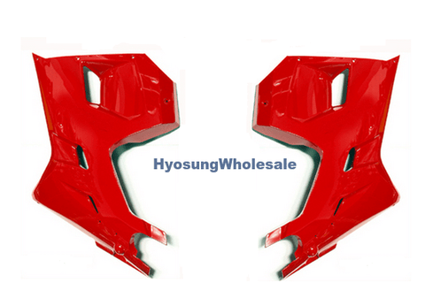 94433HP9400CDR 94432HP9400CDR Hyosung Red Lower Fairings Pair GT125R GT250R GT650R