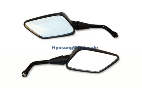 56500HN9100 56600HN9100 56600HP9250 56500HP9250 56501HP9250 Hyosung Set Pair Naked Mirror GT125 GT250 GT650 GD250N