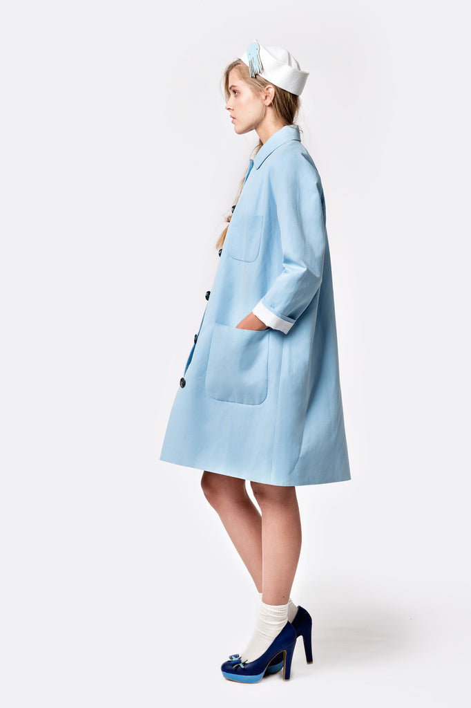 Sea Side Cotton Linen Coat