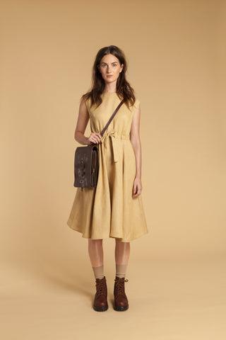 Honey Comb Easy Linen Dress