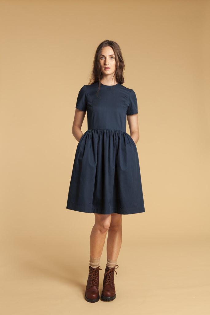 Safari Cotton Gathered Dress