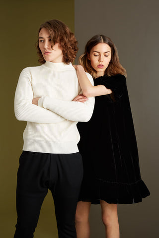 Merino Funnel Neck Sweater