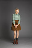 Quilted Wool Imitation Skirt