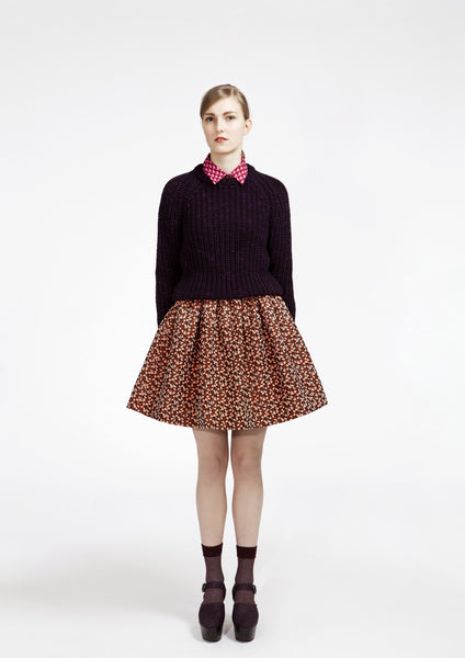 Leaf Jacquard Skirt