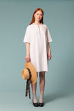 Cotton Seersucker Kaftan Dress