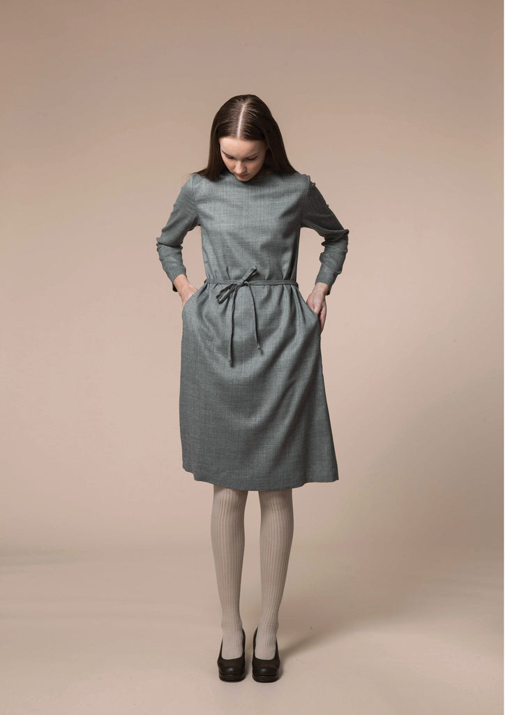 Wool Drill Simple Dress