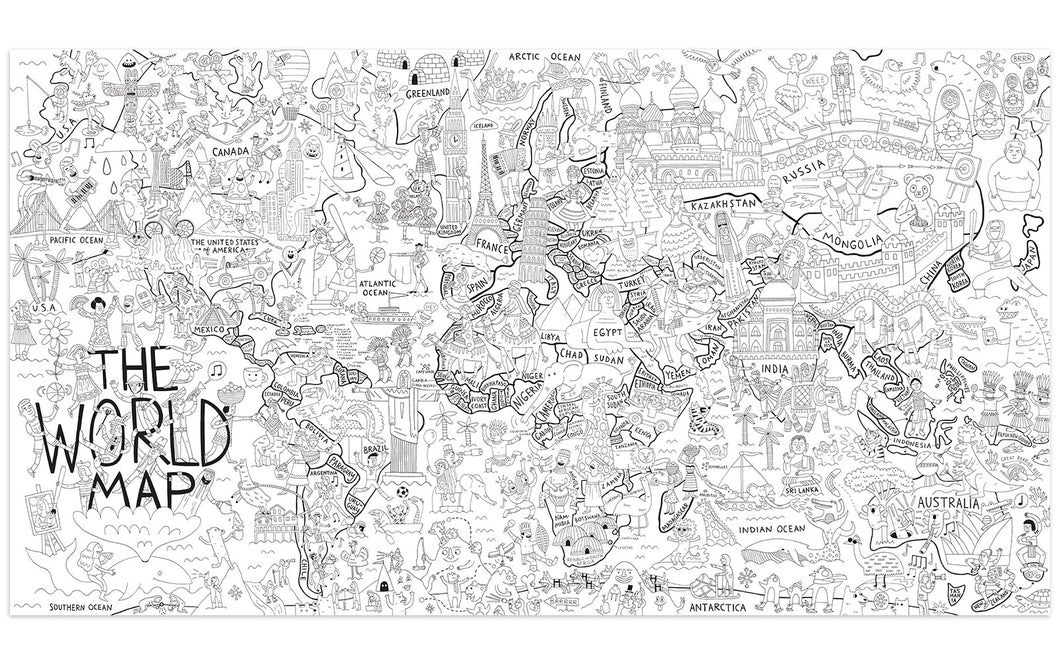 What a Colorful World - Really Big Coloring Poster – Pirasta NYC