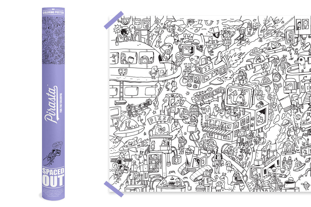 Spaced Out Big Coloring Poster – Pirasta NYC