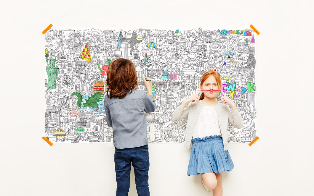 The Big Apple - NYC Giant Coloring Poster – Pirasta NYC