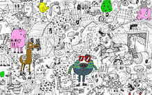 Pirasta Big Coloring Poster Funny Farm