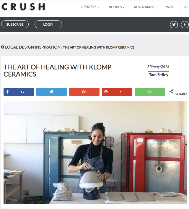 Crush Magazine Klomp Ceramics