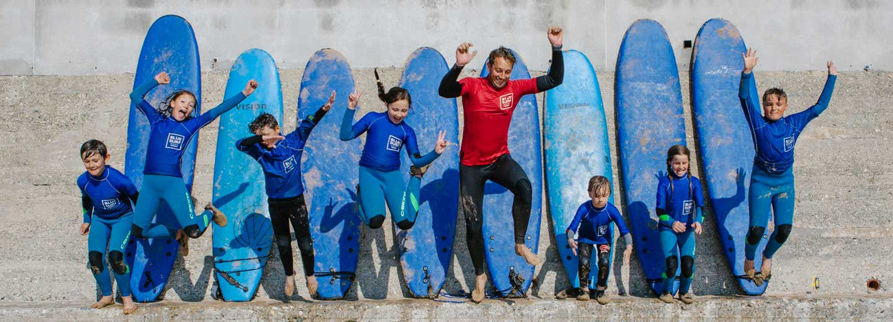 Blue Surf School Lesson at Watergate Bay