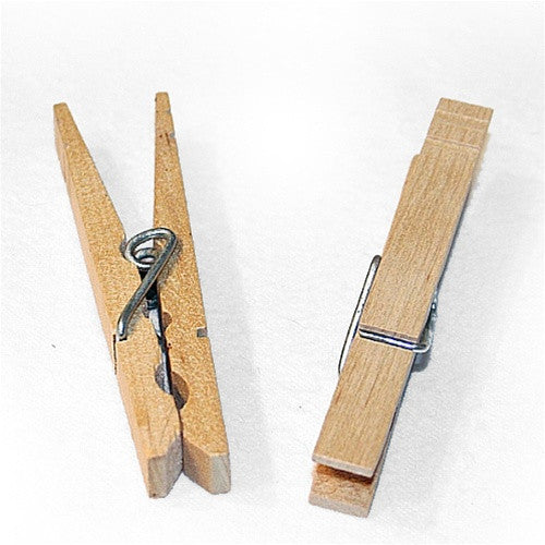 3-1/4 in. Wood Spring Clothespins