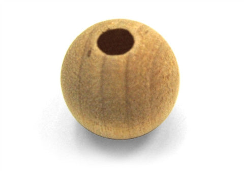 1/4 in. Round Wood Beads