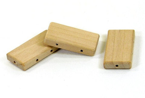 1-1/2 in. Rectangle Wood Beads