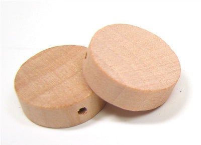 1 in. Wood Disc Beads