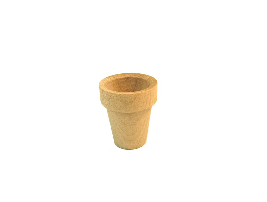 1-1/8 in. Wood Flower Pots