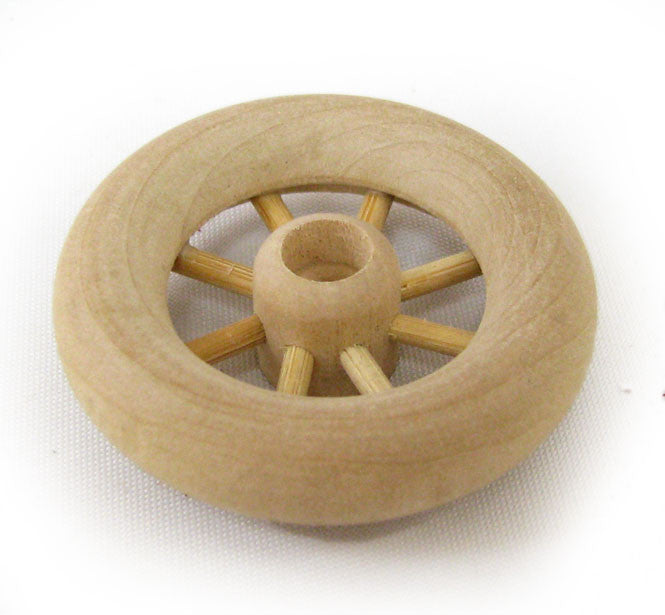 "2-1/4"" Spoked Wood Wheels"