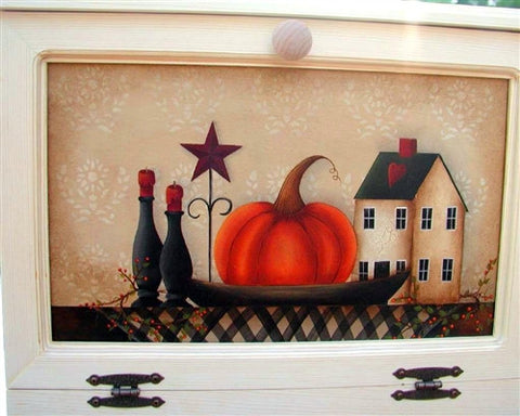 Fall Still Life Bread Box Insert E-Pattern
