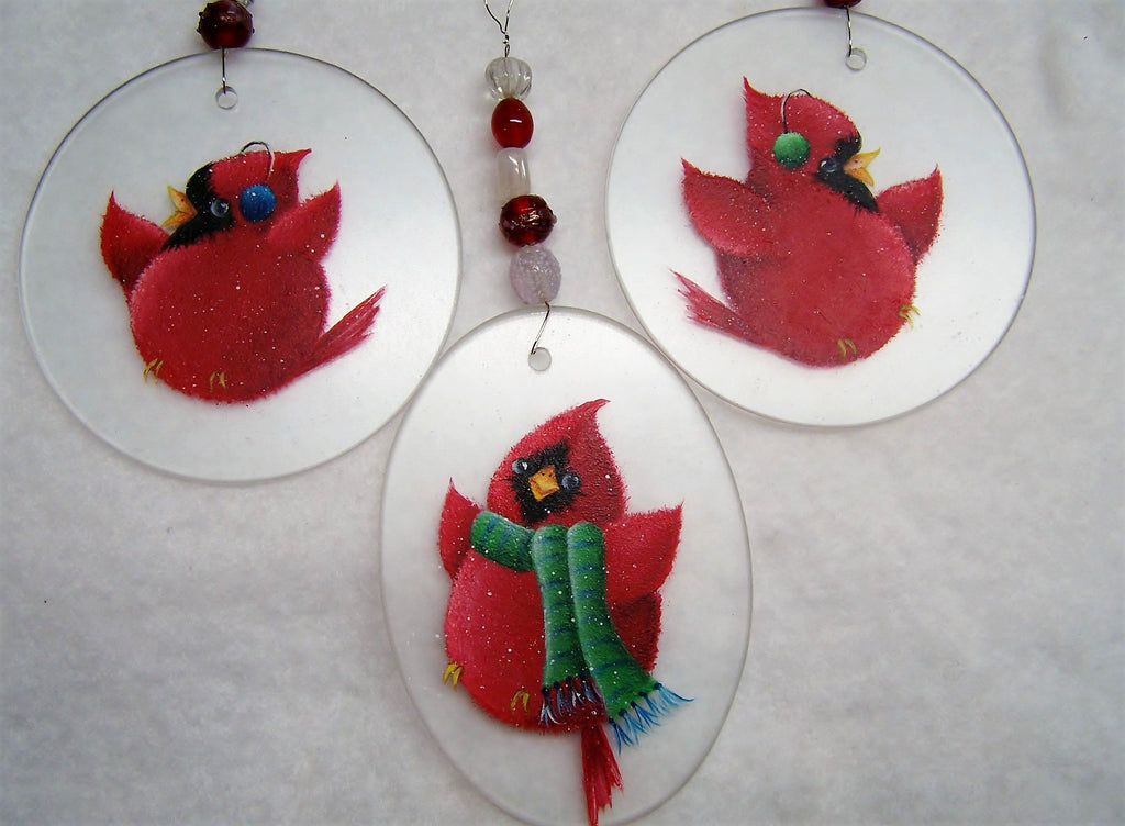 Christmas Cardinals E-Pattern By Linda Hollander