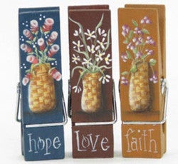 Faith, Hope & Love Mini Memo Clips E-Pattern