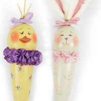 Chick & Bunny Cone Ornaments E-Pattern