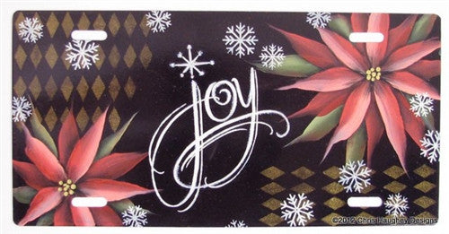 Christmas Joy License Plate E-Pattern