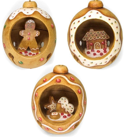 Gingerbread Jingle Bell Ornaments E-Pattern