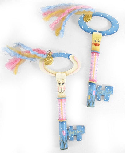 Easter Bunny & Chick Keys E-Pattern