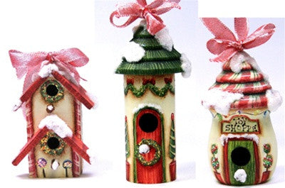 North Pole Village Birdhouse Ornaments E-Pattern