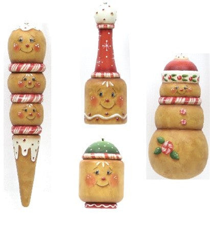 Gingerbread Ornaments E-Pattern
