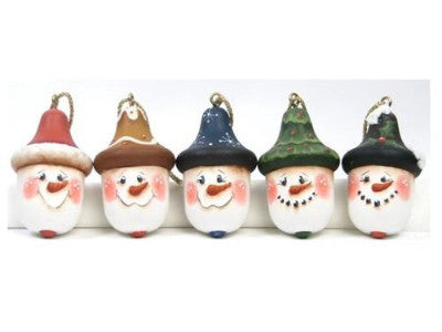 Acorn Snowmen Ornaments E-Pattern