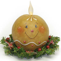 Gingerbread Ball Candle E-Pattern