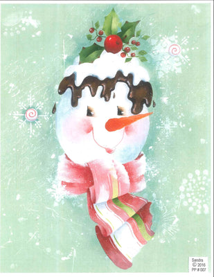 Chocolate Cherry Snowman E-Pattern By Sandra Malone