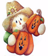 Harvest Time Scarecrow Plaque