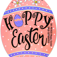 Hoppy Easter Stencil