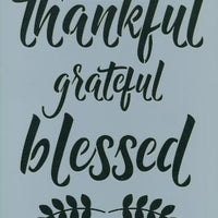 Thankful, Grateful, Blessed Pattern by Chris Haughey