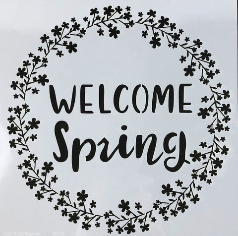 Welcome Spring Stencil