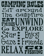 Camping Rules Stencil