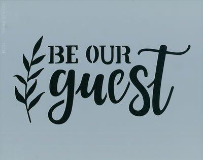 Be Our Guest Stencil