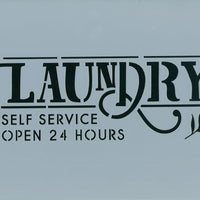 Laundry 24 Hours Stencil