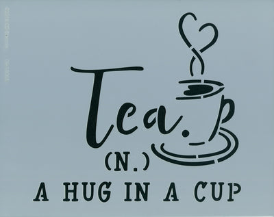 Hug in a Cup Stencil