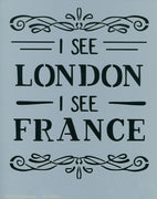 I See London, I See France Stencil