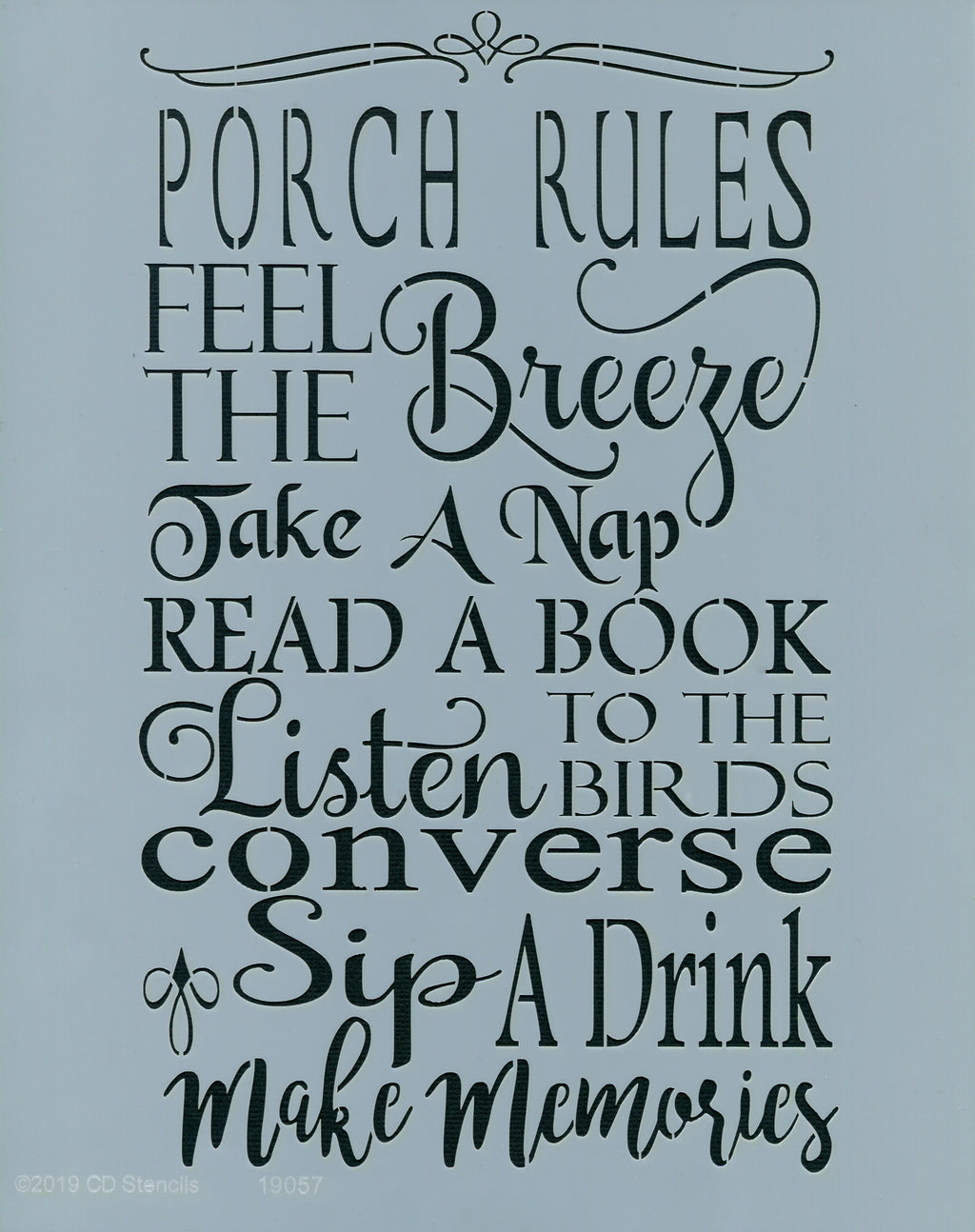 Porch Rules Stencil
