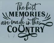 Country Memories Stencil