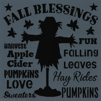 Fall Blessings Scarecrow Stencil