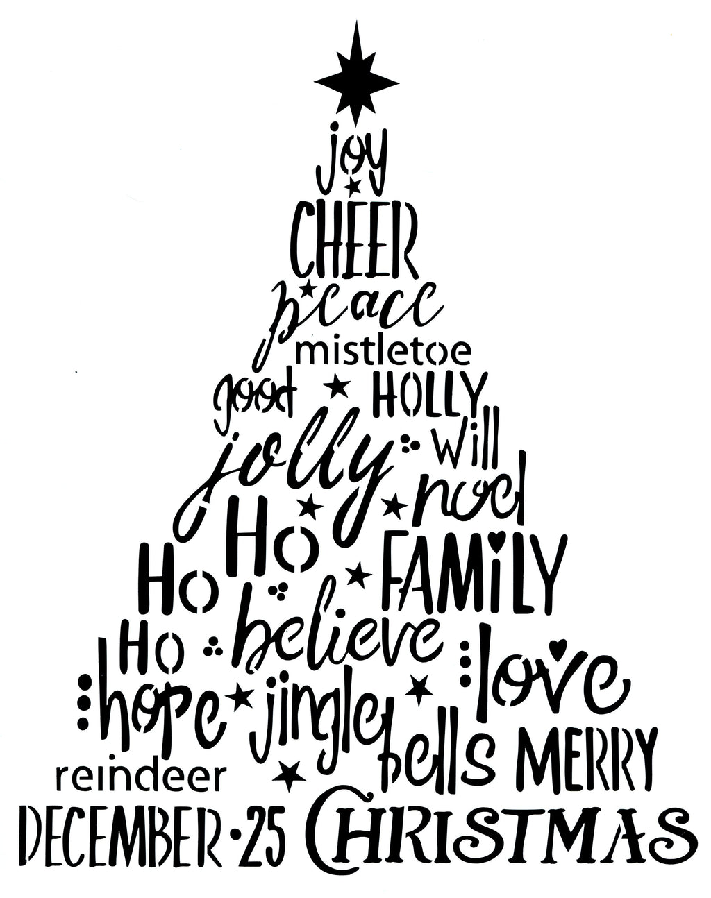 Christmas Word Tree