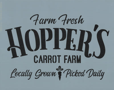 Hopper's Carrot Farm Stencil